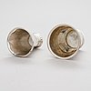 Two silver beakers, johan björklund uusikaarelpyy, finland 1792 and carl beck, stockholm, sweden (1717-1736).