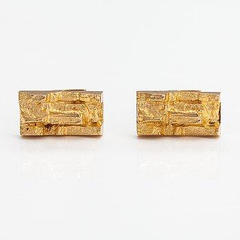 "Björn Weckström, A pair of 14K gold cufflinks ""Gold rya"". Lapponia 1971."
