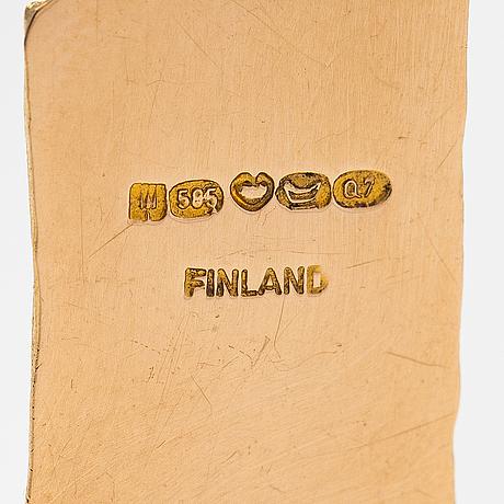 "Björn weckström, ""golden tree"", a 14k gold pendant  with mossagates. lapponia 1969."