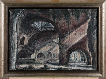 Thomas Nyqvist, oil on canvas, a tergo signed and dated 1993.