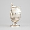 A swedish empire parcel gilt silver creamer, mark of anders lundqvist, stockholm 1828.