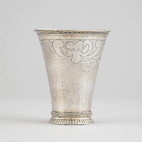 A swedish silver beaker, mark of daniel lundström, stockholm 1765.