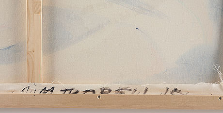 Jim thorell, signed jim thorell and dated 15 on verso. acrylic on canvas.