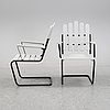 A pair of garden chairs, mid 20th century.