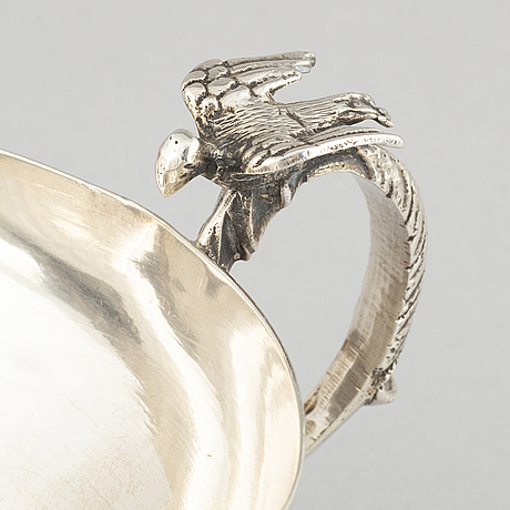 A turkish silver sarf and cup, 18-19th century and 19-20th century.