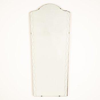 A Swedish Modern mirror, Glas & Trä, Hovmantorp, 1940's.