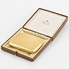 18k gold cigarette case,  k andersson.