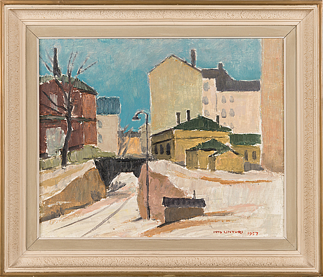 Into linturi, oil on canvas, signed and dated 1957.