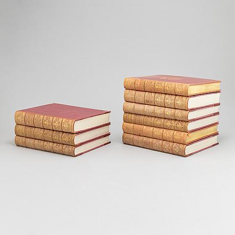 Nine volumes of the book series  'svenska slott och herresäten', different publications, 1908-1933.