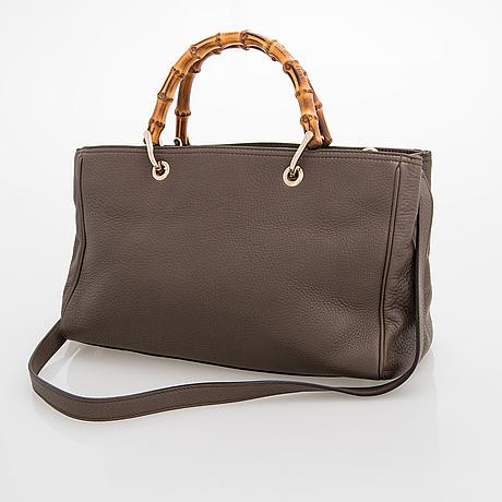 Gucci, a ' bamboo shopper' leather bag.