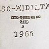 A three-piece silver coffee set, finnish control marks 1966.