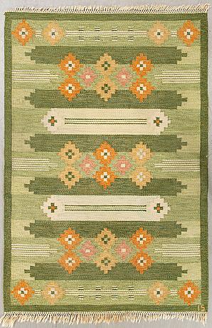 A swedish flat weave carpet frösö ingegerd silow 200x140 cm.