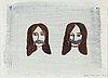 Klara kristalova, signed and dated -97. mixed media on paper.