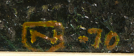 Gerd nordenskjöld, oil on canvas signed and dated 70.