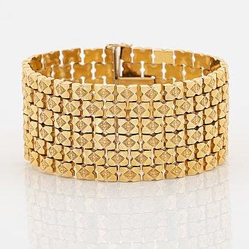 18K gold bracelet, Italy.