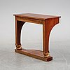 A swedish empire console table, first half of the 19th century.
