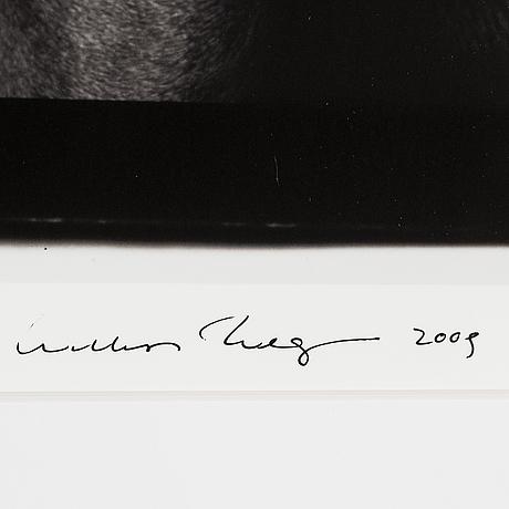 William wegman, fotografi, 2009, signerad. numrerad 456/1500 a tergo.