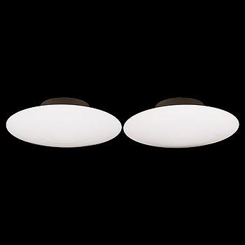 Arne Jacobsen, tak-/vägglampor, ett par, AJ-Eklipta, 32012, Louis Poulsen, Danmark.