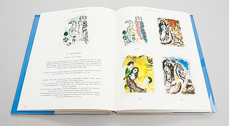 Two books, 'chagall lithographe iii' and 'chagall litographe iv', 1969 and 1974.