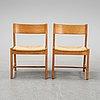 Six oak chairs by børge mogensen, c.m. madsens fabriker, denmark.
