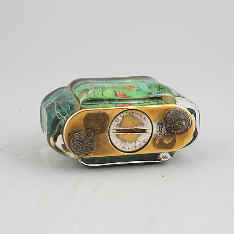 An 'aquarium' table lighter from dunhill, 1950's/60's.