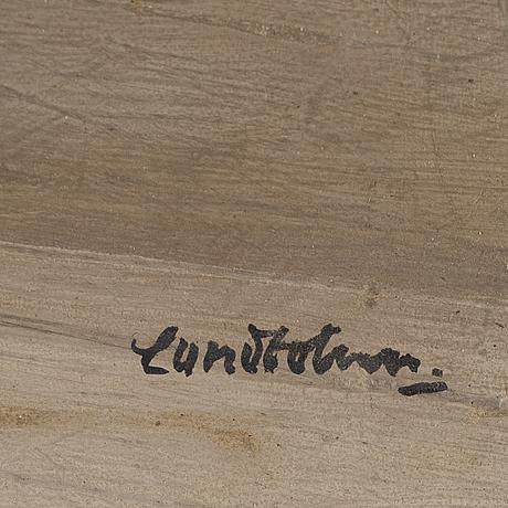 Sixten lundbom, oil on panel, signed.