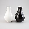 "Wilhelm kåge, two ""surrea"" ceramic vases, gustavsberg, possibly prototypes."