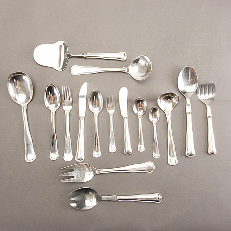 A danish 20th century set of 96 pcs of silver cutlery mark of cohr denmark later part of the 20th century.