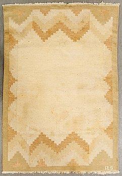 A Swedish flat weave carpet signed ILS 202x141 cm.