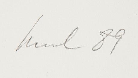 Raul meel, silkscreen in colours, 1989, signed ea 3/10.