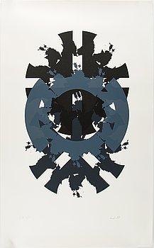 Raul Meel, silkscreen in colours, 1989, signed EA 4/10.