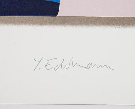 Yrjö edelmann, färglitografi, 1990, stämpelsignerad ea 12/25.