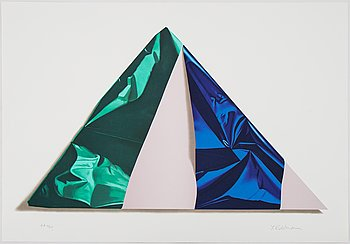Yrjö Edelmann, lithograph in colours, 1990, stamped signature EA 12/25.