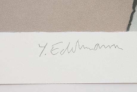 Yrjö edelmann, lithograph in colours, 1979, signed hc.