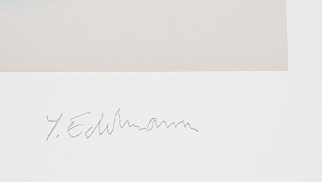 Yrjö edelmann, litograph in colours, 1992, stamped signature i/xxxvi.