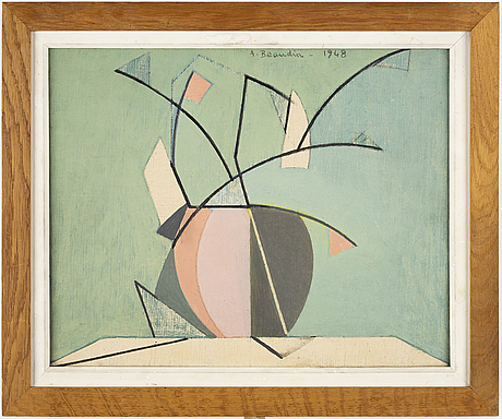 André beaudin, oil on canvas, signed and dated 1948.