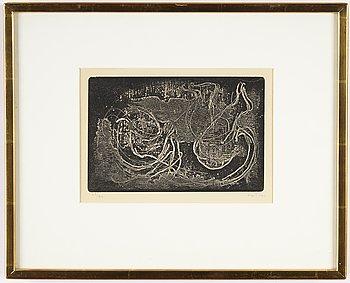 Jean Fautrier, etsning, signerad och numrerad 22/50.