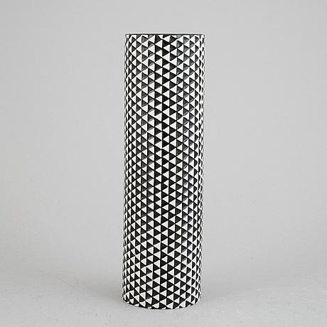 Stig lindberg, a stoneware 'domino' vase, gustavsberg.