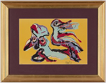 Karel Appel, lithograph in colors, 1977, signed and numbured 51/75.