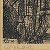 Marcel gromaire, etsning, signerad och numrerad 9/50.