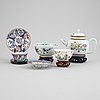 A group of chinese porcelain, qing dynasty, qianlong (1736-1795) and 19th/20th century. (6 pieces).