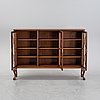 A 20th century chippendale-style book cabinet.