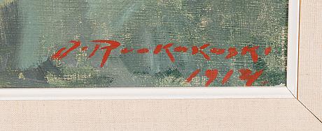 Jalmari ruokokoski, oil on canvas, signed and dated 1914.