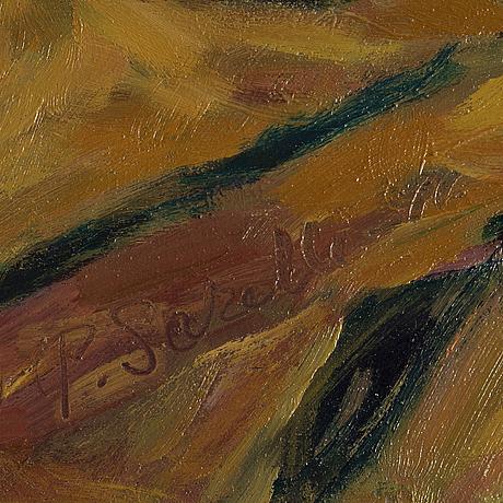 Paavo sarelli, oil on panel, signed.