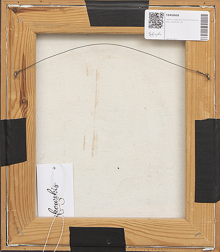 James coignard, mixed media on canvas, signed.
