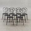 Garden chairs. 9 st. classic no.1 byarums bruk.