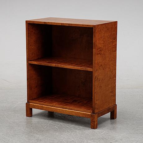 A birch veneered bookshelf, 1930's.