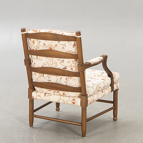 Armchair, gripsholm model, second half of the 20th century.