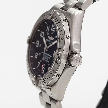 Breitling, superocean, armbandsur, 41 mm.