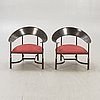 Armchairs / armchairs, probably italy, a pair, second half of the 20th century.